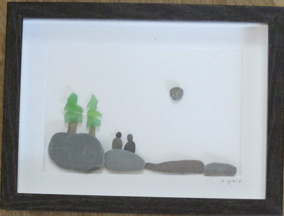 The Beauty of Maine,   Framed Wall Hanging by Artisan Lisa Holt