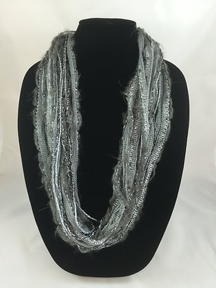 Winter Slate Sparkle Plush Necklace by Artisan Jane Arey