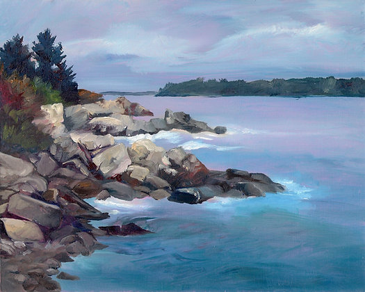 Weathered Rocks at Elm Tree Cove by Heather Roselle Barter