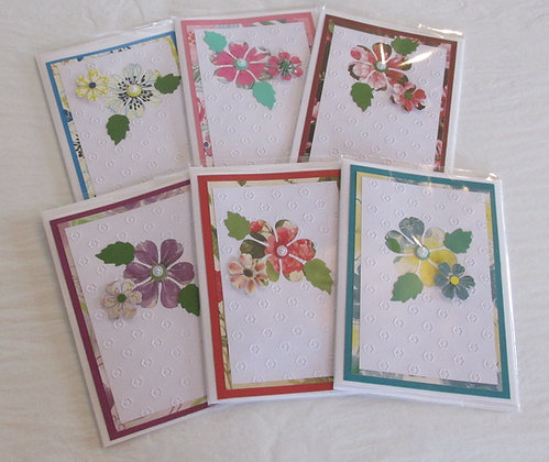 Hand Made Flower Cards - Blank inside by Artisan Marilyn Parker