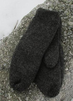 Charcoal Fleece lined Wool Mittens