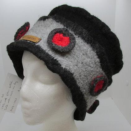 Pill Box  Handmade Felted Wool Hat by Artisan May Bouchard