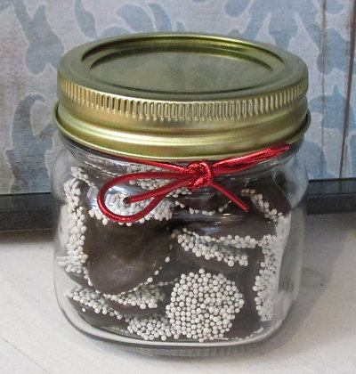 Chocolate Holiday Jar by Artisan Maine Gourmet Chocolate
