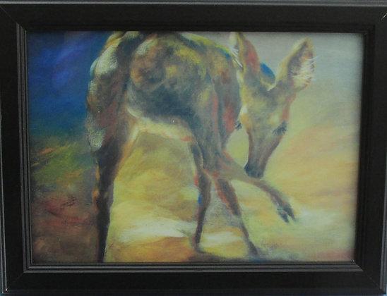 Deer Licking Leg by Artisan Tania Amazeen-Jones