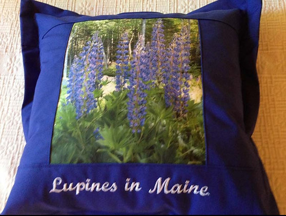 Lupines in Maine Pillow by Artisan Pillow World