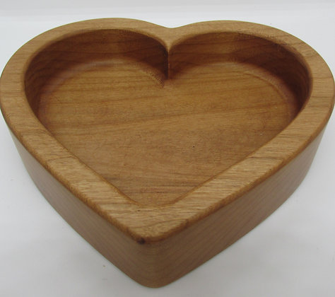 Heart Wooden Snack Tray by Artisan Torie Patterson