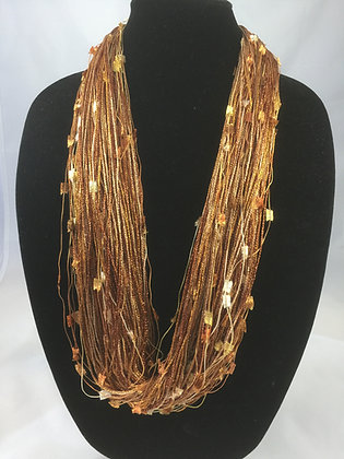 Pebble Bronze Shimmer Necklace by Artisan Jane Arey