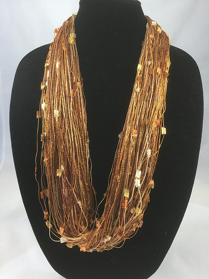 Pebble Bronze Shimmer Necklace