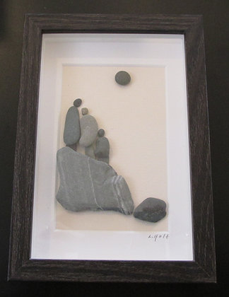 Look How Far We Have Come,   Framed Wall Hanging by Artisan Lisa Holt