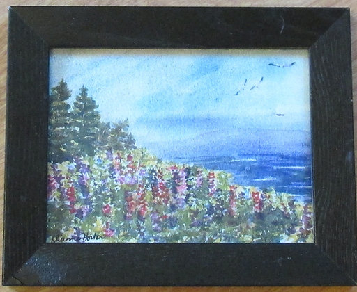 The Colors of Maine, Framed Ceramic Tile by Artisan Dianne Horton