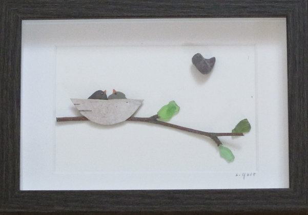 A Time for Love, Framed Wall Hanging by Artisan Lisa Holt