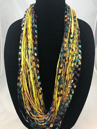 Goldenrod Jewel Necklace by Artisan Jane Arey