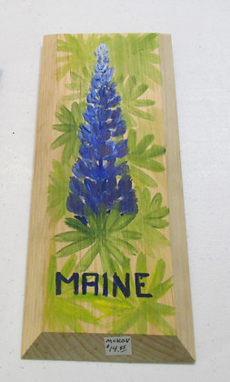 Purple Lupine Hand Painted on Driftwood by Artisan Candace McKellar