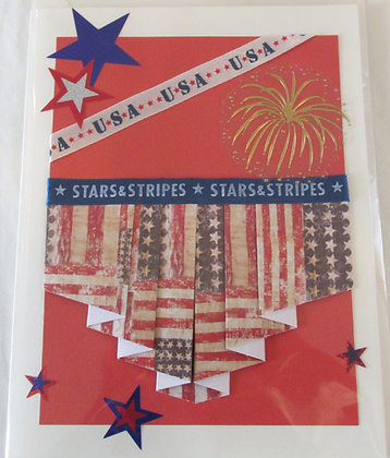 Stars & Stripes USA Card by Artisan Marilyn Parker