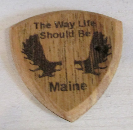 Maine - The way life should be  Wooden Guitar Pick by Artisan Chris Gray