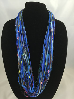 Jazzy Blue Jewel Necklace by Artisan Jane Arey
