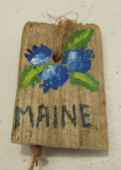 Hand painted Maine Blueberries ornament