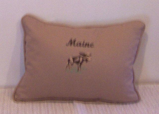 Maine Moose Pillow