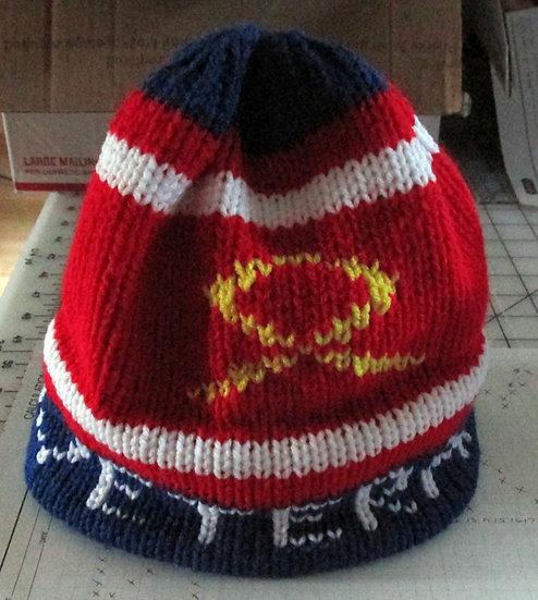 Honor Your Military Veteran Handknit Hat