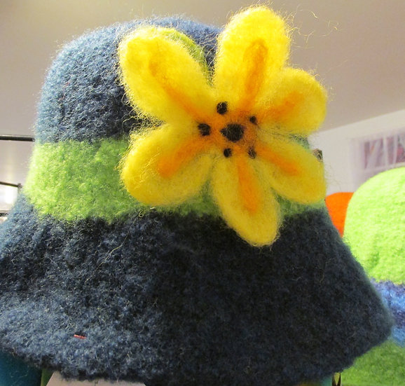 Bee Lovers Delight Handmade Felted Wool Hat