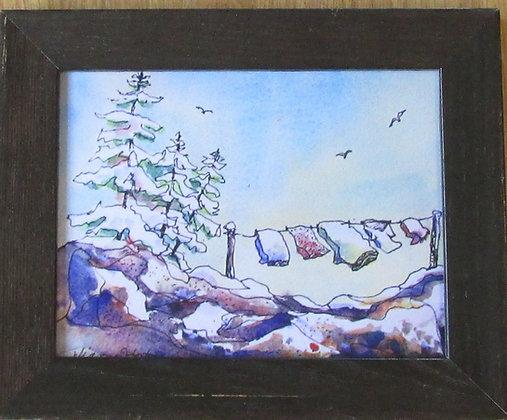 Brisk Breezes, Framed Ceramic Tile by Artisan Dianne Horton