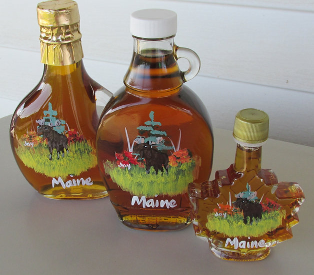 Hand Painted Moose Maple Syrup