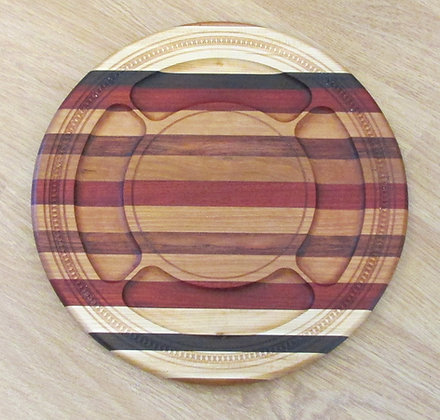 Mixed Hardwoods Cheese Board by Artisan Duane Butler