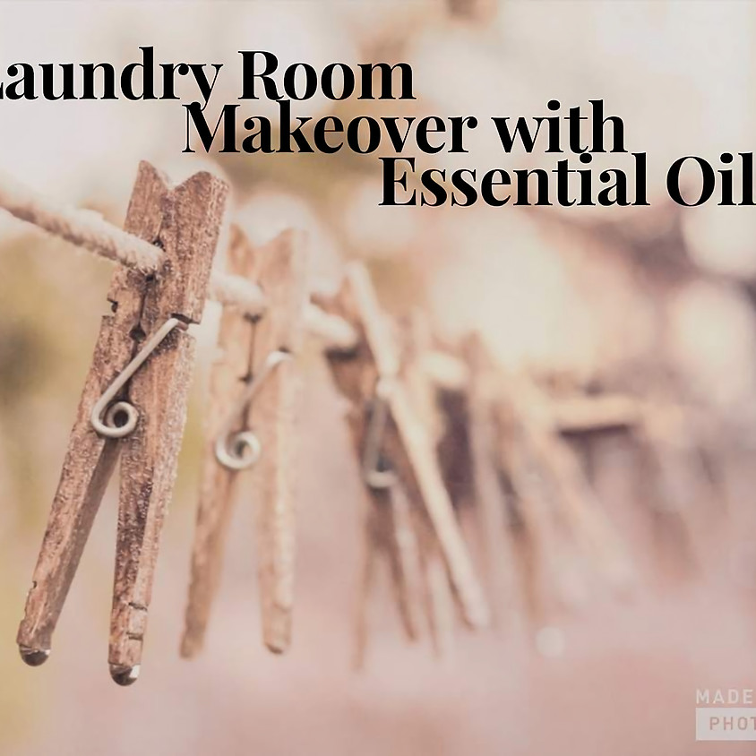 Laundry Room Makeover with Essential Oils