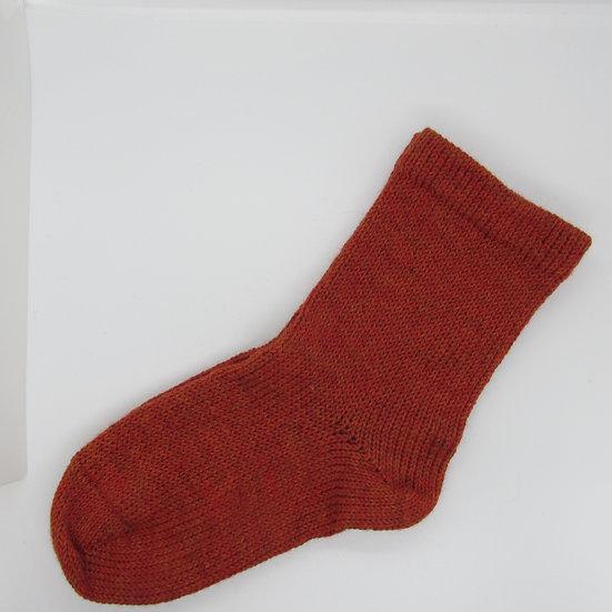 Light Candied Yam, Alpaca/Wool Handknit Socks