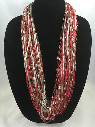 Crimson Twist Jewel Necklace by Artisan Jane Arey