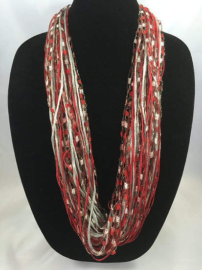 Crimson Twist Jewel Necklace