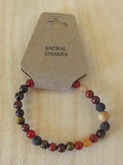 """""""CHAKRA - Sacral"""" Aromatherapy Stretchy Bracelet"""