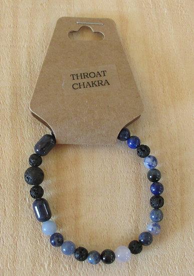 """CHAKRA - Throat"" Aromatherapy Stretchy Bracelet"