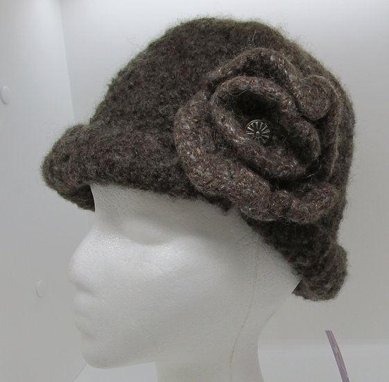 Lush Brown Felted Wool Hat