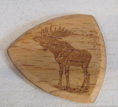 Moose Wooden Guitar Pick by Artisan Chris Gray