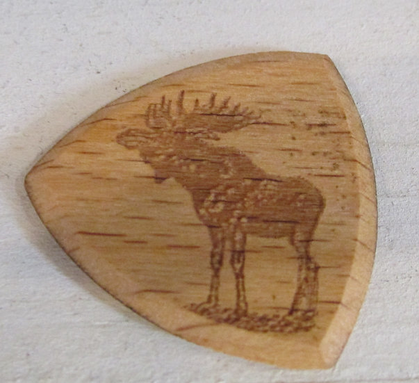 Moose Wooden Guitar Pick