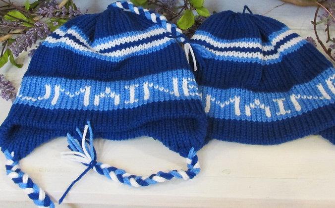 U Maine  Handknit Hat by Artisan Keepsake NogginKnits