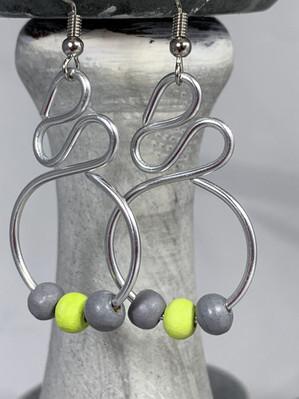 JELW-W805 Ponds Trio Earrings - Lime Gre