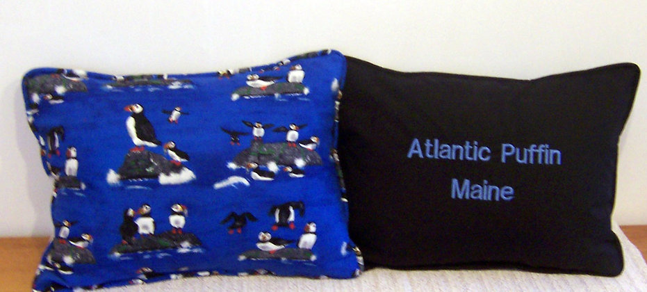 Maine Atlantic Puffin Pillow by Artisan Pillow World