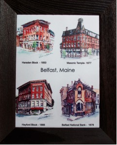 Belfast, Maine Buildings, Framed Ceramic Tile