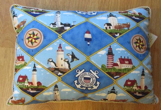 We Salute US Coast Guard by Artisan Pillow World