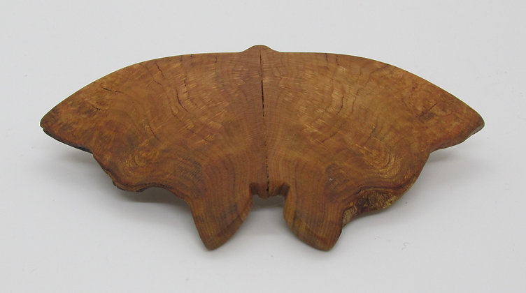 Moth Burl Barrette by Artisan Chris Gray