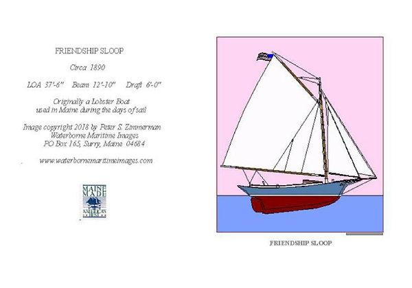 Blue Friendship Card by Artisan Peter Zimmerman
