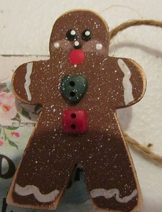 Gingerbread Holiday Pin by Artisan Marilyn Parker