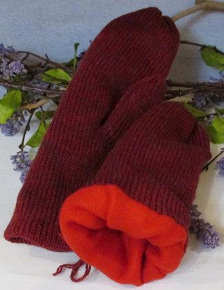 Serenade, Fleece Lined Handknit Wool Mittens