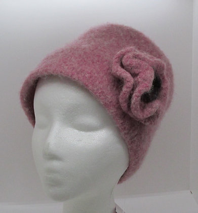 A Rose is A Rose Inspired Wool Felt Hat by Artisan May Bouchard