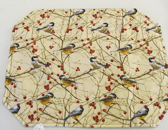 Chickadee  Placemats by Artisan Pillow World