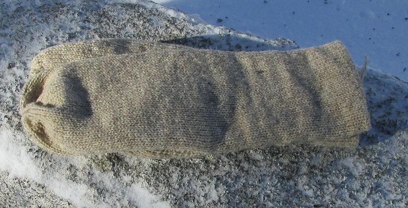 Oatmeal Double Knit Wool Handknit Mittens