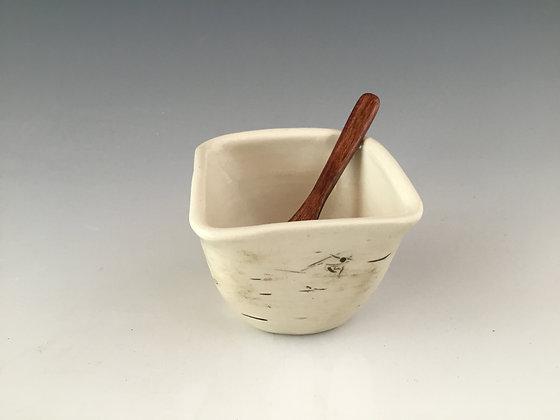 Birch Pottery Handmade Dip Bowl by Artisan Elizabeth Radliff