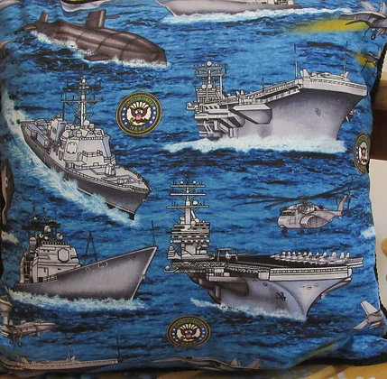 Personalized Navy Pillow by Artisan Pillow World